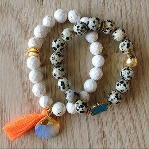 BRACHA Gemstone Beaded Stretch Bracelets